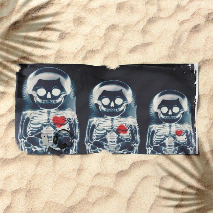 Nesting Doll X-Ray Beach Towel