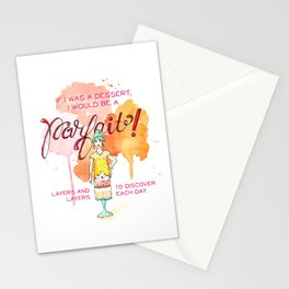 If I was a Dessert... Stationery Cards