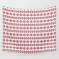 stitch Wall Tapestries featuring Christmas Stitch by Concord Dawn