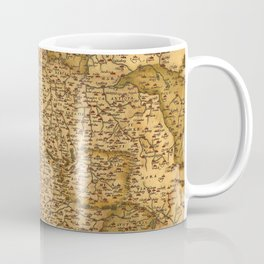 Old map of Germany 1570 Coffee Mug