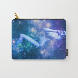 Blue Galaxy Woman : Nude Art Carry-All Pouch