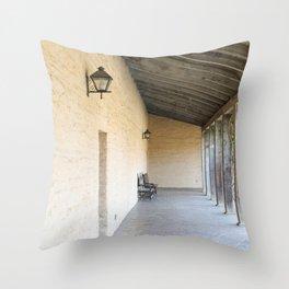 Old Outside Corridor Throw Pillow