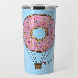 Donut Hot Air Balloon Travel Mug