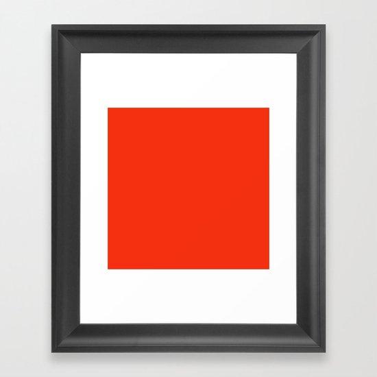 Festive Red Framed Art Print