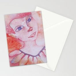 Le clown acrobate Stationery Cards