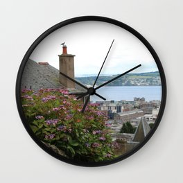 House on a Hilltop Wall Clock