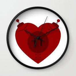 Robot Heart Wall Clock