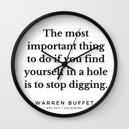 6   | Warren Buffett Quotes | 190823 Wall Clock