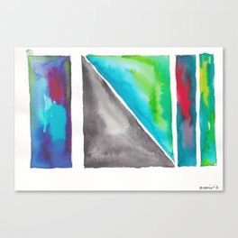 180811 Watercolor Block Swatches 4| Colorful Abstract |Geometrical Art Canvas Print