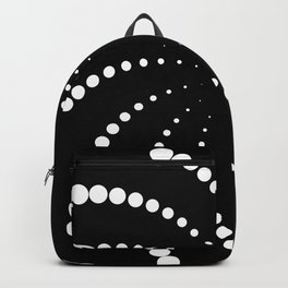 monochrome spiral Backpack