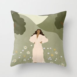 No Ceiling in the Garden Throw Pillow