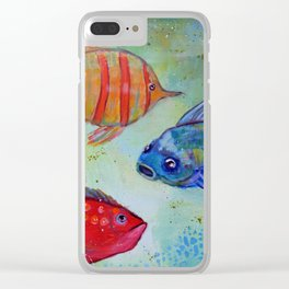 Three little fishies Clear iPhone Case
