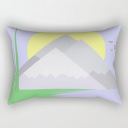 The mountains and the lake Rectangular Pillow