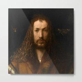 """Albrecht Dürer """"Self-portrait at 28"""" Metal Print"""