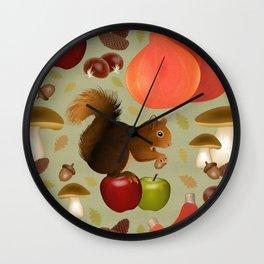 Hello Autumn! Wall Clock