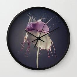 Vanilla and Bluberry Wall Clock