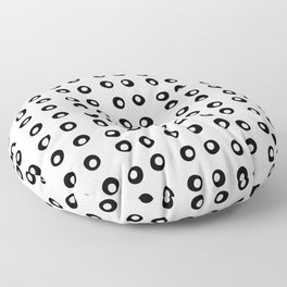 Black and White 7 Floor Pillow