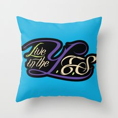 Live In The YES Logo Throw Pillow