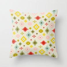 Mod Tribal Pattern Throw Pillow