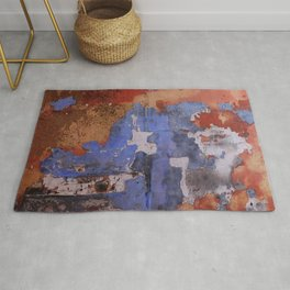 Abstract wall patchwork painting Rug