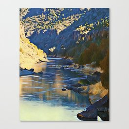 Rio Grande at the John Dunn Bridge on a Winters Day by CheyAnne Sexton Canvas Print