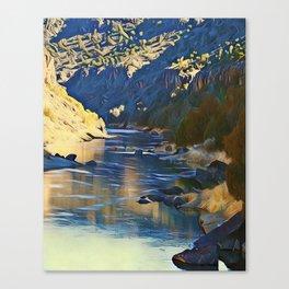 Rio Grande at the John Dunn Bridge on a Winters Day by CheyAnne Sexton Canvas Print