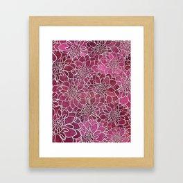 Dahlia Flower Pattern 2 Framed Art Print