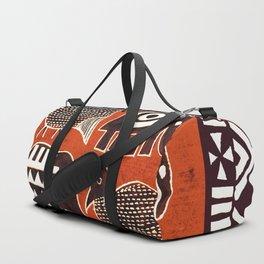 African Animal Folk Art Duffle Bag