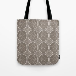 Grisaille Chestnut Brown Neo-Classical Ovals Tote Bag