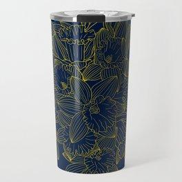 Daffodils by Night Travel Mug