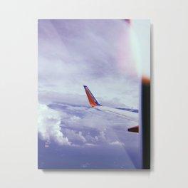 Airplane Window View Metal Print