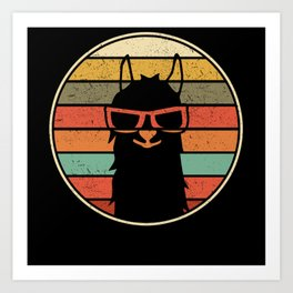 Cool Llama Alpaca | Funny Gift Art Print