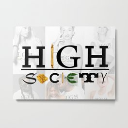 High Society Logo2 Metal Print