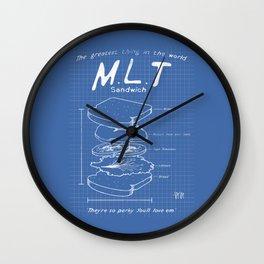 M.L.T. - Mutton, Lettuce, & Tomato Wall Clock