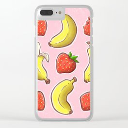 Strawberry and Banana Clear iPhone Case