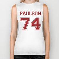 sarah paulson Biker Tanks featuring Sarah Paulson Varsity by NameGame
