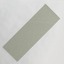 Lines (Linen Sage) Yoga Mat