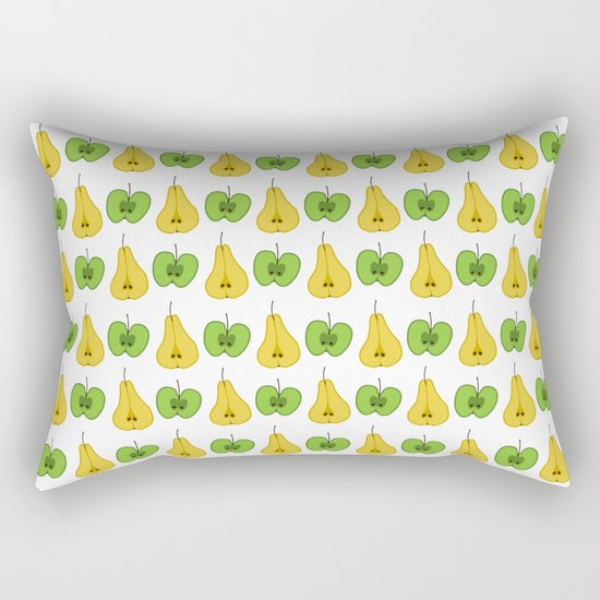 Apple and pear pattern Rectangular Pillow