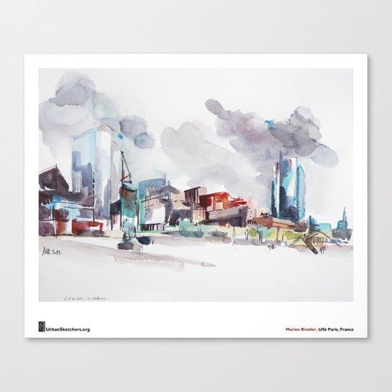 """Marion Rivolier, """"La Défense"""" Canvas Print"""