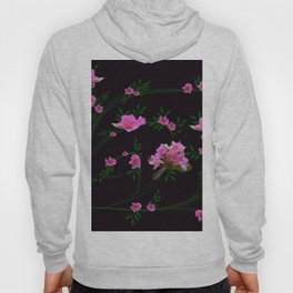 Pink flower clipping Hoody