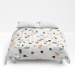 terrazzo pattern Comforters