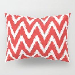 Red Asian Moods Ikat Chevrons Pillow Sham