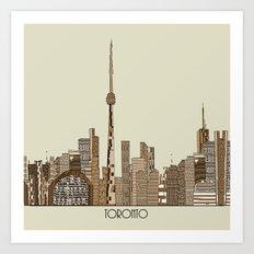 Toronto city vintage  Art Print