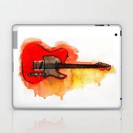 Watercolor guitar Laptop & iPad Skin