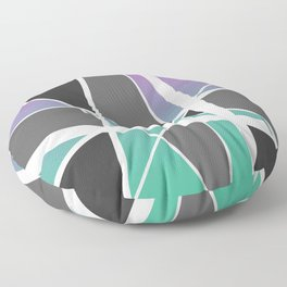 Triangles Stripes Mikado Design Geometric pink turquoise Floor Pillow
