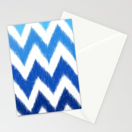 Ombre Ikat Chevron  Stationery Cards