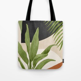 Abstract Art Tropical Leaf 11 Tote Bag