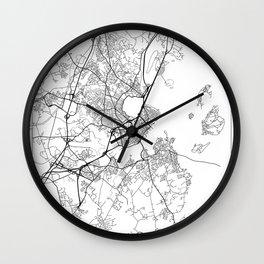 Portland ME Map White Wall Clock