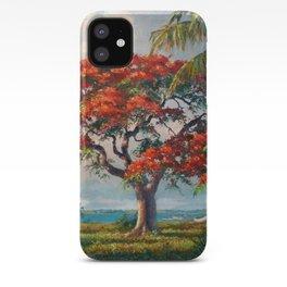 Royal Poinciana Tropical Florida Keys Landscape by R. Godfrey Rivers iPhone Case