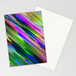 Colorful digital art splashing G487 Stationery Cards